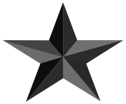 black star png clipart image