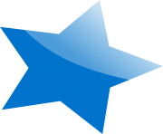 blue star png image transparent background free download