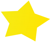simple yellow star for kid png