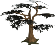 3d black tree png