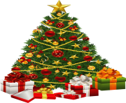 fir tree png transparent christmas with gifts