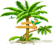 palm tree png image cartoon birds beach