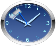 Blue Clock Free PNG Image