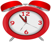 Red Alarm Clock Red PNG Clip Art