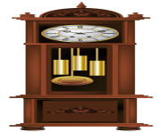 Antique Grandfather Clock PNG Clip Art