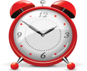 red clock png alarm