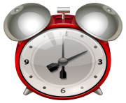 Red Alarm Clock PNG Clip Art