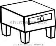 clip art night stand nightstand furniture stock C1NjS1 clipart