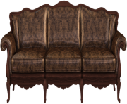 sofa furniture couch old png image