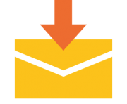 emoji android envelope with downwards arrow above