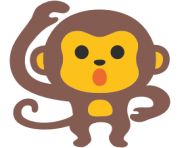 emoji android monkey