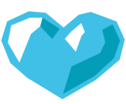 emoji android blue heart