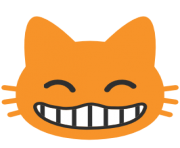 emoji android grinning cat face with smiling eyes