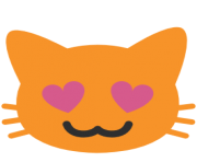 emoji android smiling cat face with heart shaped eyes
