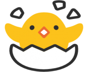 emoji android hatching chick
