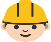 emoji android construction worker