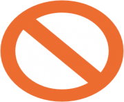 emoji android no entry sign