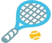 emoji android tennis racquet and ball