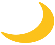 emoji android crescent moon