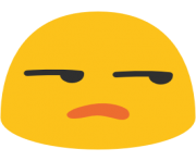 emoji android unamused face