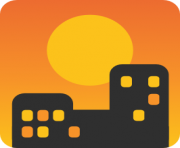 emoji android sunset over buildings