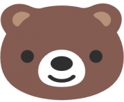 emoji android bear face