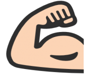 emoji android flexed biceps