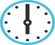 emoji android clock face six oclock