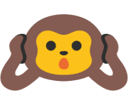 emoji android hear no evil monkey
