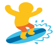 emoji android surfer