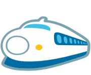 emoji android high speed train with bullet nose