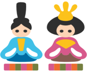 emoji android japanese dolls