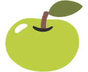 emoji android green apple