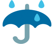 emoji android umbrella with rain drops
