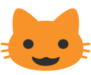 emoji android smiling cat face with open mouth