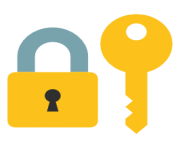 emoji android closed lock with key