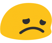 emoji android disappointed face
