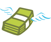emoji android money with wings