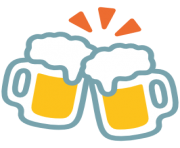 emoji android clinking beer mugs