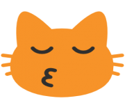 emoji android kissing cat face with closed eyes