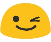 emoji android winking face