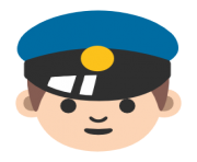 emoji android police officer