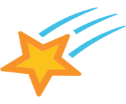 emoji android shooting star