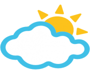 emoji android sun behind cloud