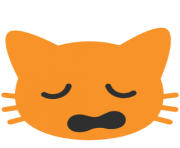 emoji android weary cat face