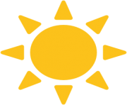 emoji android black sun with rays