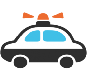emoji android police car