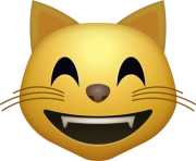 Happy cat Emoji png transparent icon