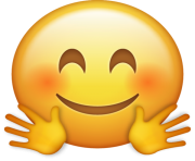 Hugging Emoji png transparent Icon