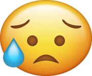 Disappointed but Relieved Emoji Png Icon